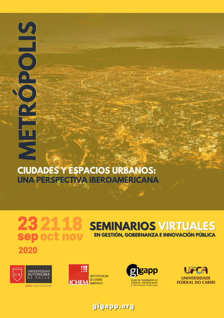 """Seminarios """"Metrópolis, Ciudades y espacios urbanos: Una perspectiva Iberoamericana"""""""