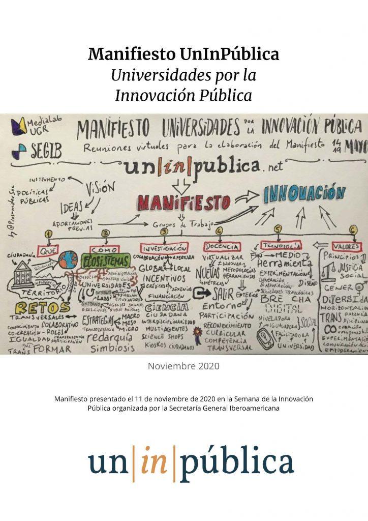 Publicación del Manifiesto de Universidades por la Innovación Pública